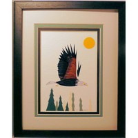 Quilled Bald Eagle original framed wall art handcrafted