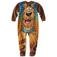 Scooby Doo Toddler Boys Blanket Sleeper - Brown 4T