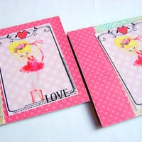 Coaster Set  Dancing Ballerina In A Pink Tutu  by mimiandlucy