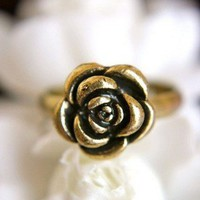 Classic Vintage Rose Adjustable Ring