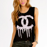 Dripping Paint CC Tank Top $34