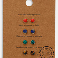 Topshop &#x27;Message&#x27; Stud Earrings (Set of 4) | Nordstrom