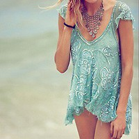 Free People  Tritan&#x27;s Treasure Top at Free People Clothing Boutique