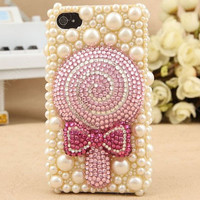 phone case  iPhone 4s Case  iPhone 5 Case  Bling iPhone 5 Case Bling iphone 4 case  3D iPhone 5 case  Cute iphone 4 case bling Lollipop