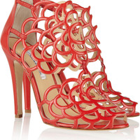Oscar de la Renta | Gladia cutout leather sandals | NET-A-PORTER.COM