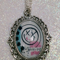 Blink 182 Inspired Cameo Necklace