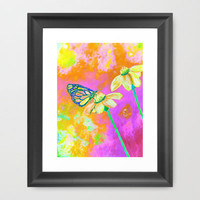 Neon Butterfly Framed Art Print by Rokin Art by RokinRonda