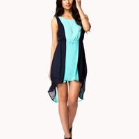 Colorblocked High-Low Dress
