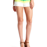 Charlotte Russe - Ombre Cutoff Denim Short