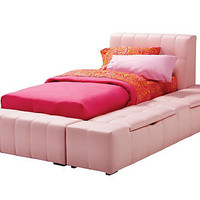 Zoey Pink Twin Storage Bed