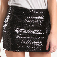 Temperament Slim Sequined Circle Skirt