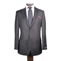 Sarar USA :: SUITS :: Black Solid Slim Fit Business Suit