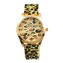 Leopard Print Silicone Sports Watch