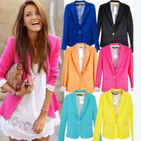 Candy Color A Button Suit