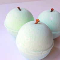 Juicy Pear Bath Bomb by ZEN-ful, Bath Bombs, Bath Fizzy, Gift Ideas, Gifts For Her, Bath Bombs 5.5 oz.