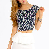 Floral Vine Crop Top $19