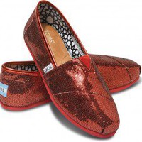 Red Women's Glitters | TOMS.com