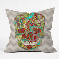 DENY Designs Home Accessories | Sharon Turner Flower Skull Outdoor Throw Pillow