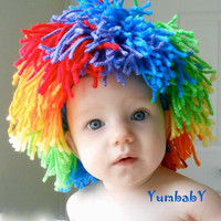 Clown Costumes Baby Hats Halloween Costumes Yarn Wig
