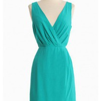 alysia teal woven dress by BB Dakota