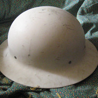 VINTAGE   WW2 Military Metal Helmet  O.C.D. Office of Civil Defense.