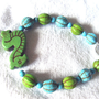 Green And Turquoise Sea Dragon Beaded Bracelet Women Summer Fashion