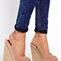 Hazy Studded Wedge Espadrilles