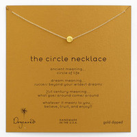 Women's Dogeared 'Reminder - The Circle' Boxed Pendant Necklace