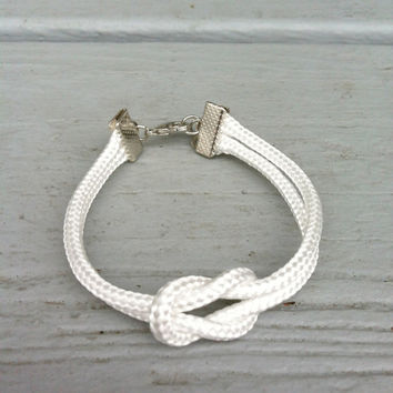 Nautical White Rope Knot Bracelet