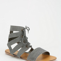 Deena &amp; Ozzy Cutout Lace-Up Sandal
