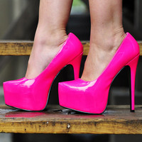 Out Of This Galaxy Heels: Neon Pink | Hope's
