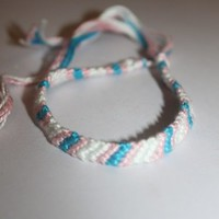 Striped Friendship Bracelet from Bracelet Frenzy
