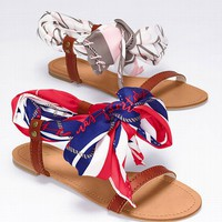 Flat Scarf Sandal. Victoriassecret