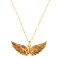 Blu Bijoux Double Wing Necklace in Gold - Max & Chloe
