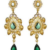 Taara Gold Peridot Drop Earrings - Max and Chloe