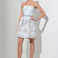 BCBGMAXAZRIA - $288.00 <BR>SHOP BY CATEGORY: DRESSES: VIEW ALL: STRAPLESS JACQUARD DRESS