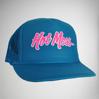 &#x27;Hot Mess&#x27; Trucker Hat