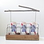 Rustic Twig Beverage Carrier - The Six Pack Abbey Beer and Wine Tote - Holds Cans, Bottles or Pints - Summer Picnic Tote