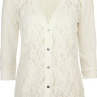 Amazon.com: FULL TILT Lace Front Womens Hachi Cardigan: Clothing