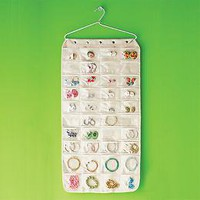 Canvas 80-Pocket Hanging Jewelry Organizer