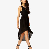 Cutout Crepe Woven Dress