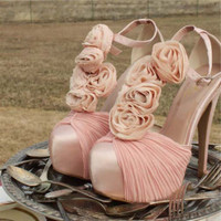 Bridal Bouquet Heels, Sweet Country Inspired Shoes