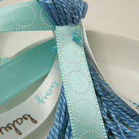 baby boy and Blue Ribbons Blue Baby Shower by lizbethsgarden