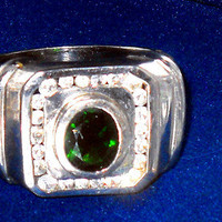 3.00ctw Mens Natural  Russian Chrome Diopside Ring Size 12