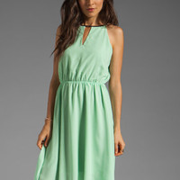 MM Couture by Miss Me Hi Low Dress With Front Keyhole in Lime from REVOLVEclothing.com