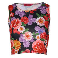 Chloe Floral Crop Vest