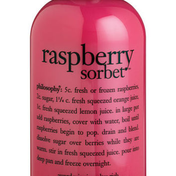 Women's philosophy 'raspberry sorbet' award-winning ultra-rich 3-in-1 shampoo, shower gel & bubble bath, 16 oz