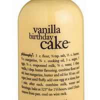 philosophy 'vanilla birthday cake' shampoo, shower gel & bubble bath