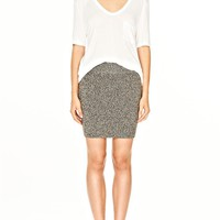 Heather Grey Wool Acrylic Marled Knitskirt - Alexander Wang