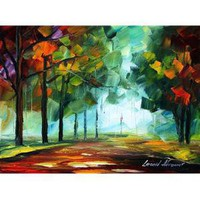 GREEN LIFE  - ORIGINAL  OIL Painting on Canvas - by Leonid AFREMOV - FOR SERIOUS COLLECTORS ONLY (Auction ID: 121800, End Time : Nov. 20, 2010 22:00:00) - Afremov Fine Art